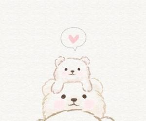 wallpaper, bear, and cute image