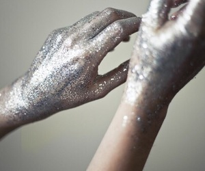 hands, glitter, and grunge image
