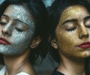 girl, glitter, and beauty image