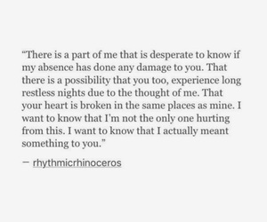 absence, broken, and desperate image