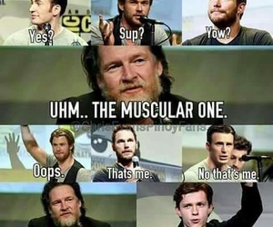 actors, funny, and Marvel image