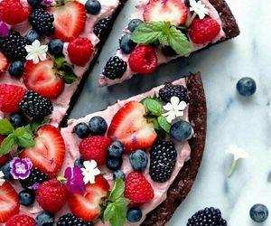 food, fruit, and cake image