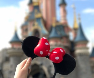 background, castle, and disney image