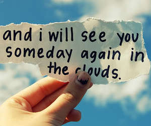 clouds, text, and quote image