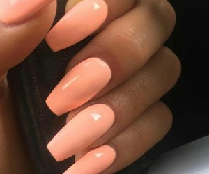 color, nails, and peach image