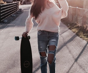 ana, ripped jeans, and cute image