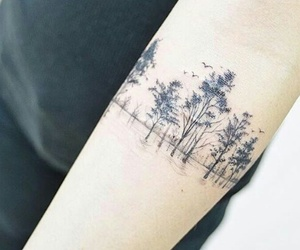 arm, tattoo, and birds image
