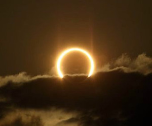 clouds, sky, and eclipse image