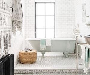 interior, bathroom, and bohemian image