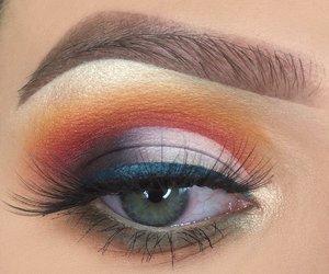 colors, eye, and eyebrow image