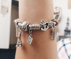 bracelet, charms, and pandora image