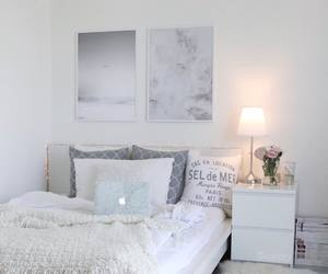 bedroom, interior, and white home image
