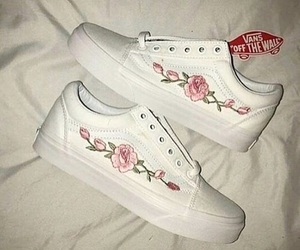 vans, white, and pink image