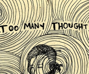 thoughts, drawing, and quotes image