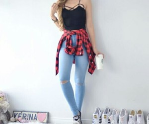 girl, fashion, and look image