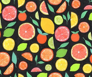 wallpaper, pattern, and fruit image