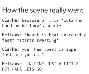 funny, the 100, and bellarke image
