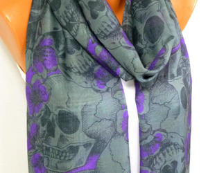 day of the dead, etsy, and infinity skull scarf image