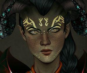 dragon age and qunari image