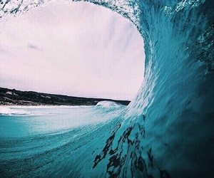 summer, waves, and ocean image