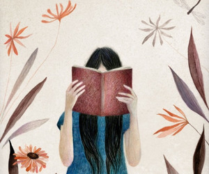 book, girl, and illustration image