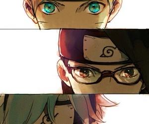 naruto, boruto, and mitsuki image