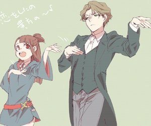 anime, anime couple, and little witch academia image