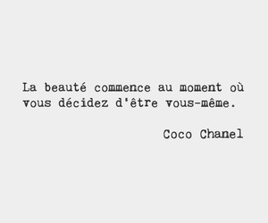 beautiful, chanel, and quote image