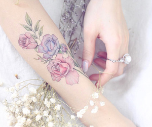 flowers, magic, and Tattoos image