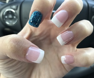 blue, french, and nails image