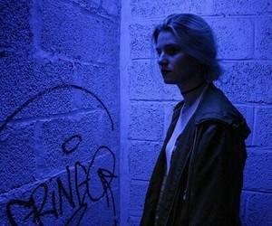 blue, girl, and grunge image