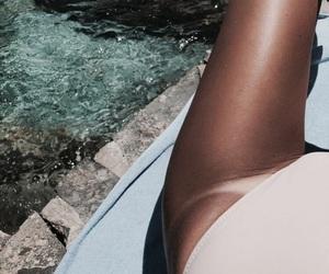 summer, tan, and girl image