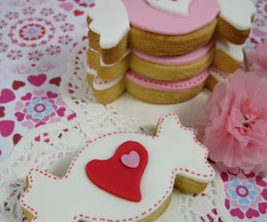 Cookies, pink, and candies image
