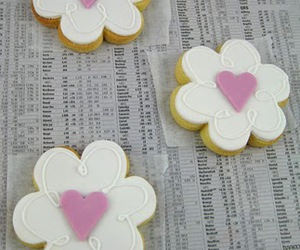 Cookies, flower, and pink image