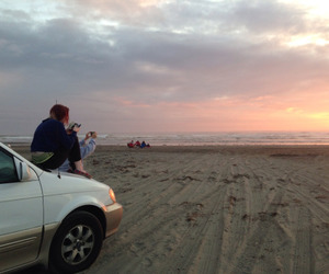 beach, car, and nature image