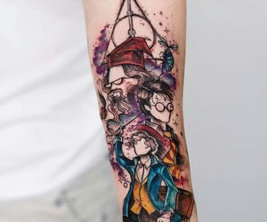 harry potter, tattoo, and tatoo image