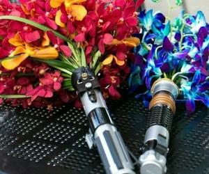 lightsaber, geek wedding, and star wars wedding image