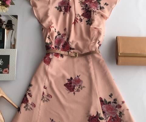 dress, floral, and outfit image