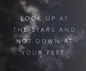 quotes, stars, and galaxy image