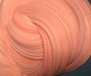 peach, slime, and aesthetic image