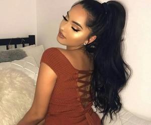 dress, girl, and makeup image