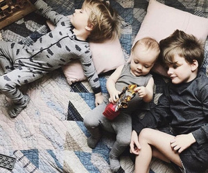 baby, bed, and brothers image