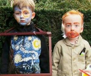 art, van gogh, and kids image
