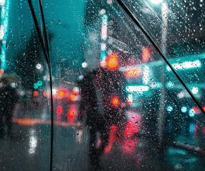 rain, night, and city image