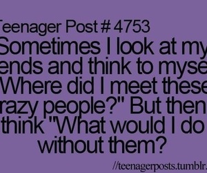friends, crazy, and teenager post image