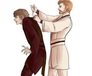 Anakin Skywalker, obi-wan, and star wars image