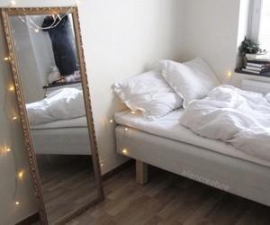 fairy lights, mirror, and nice image