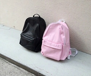 pink, black, and bag image