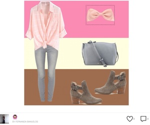bootie, bow, and fashion image