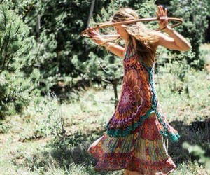 hippie, nature, and dance image